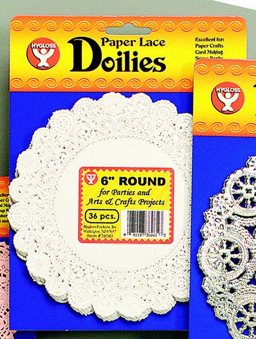 Hygloss Products Hyg10081 Doilies 8 White Round-100/Pkg.