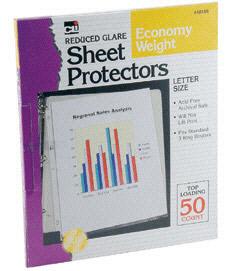 Charles Leonard Chl48145 Top Loading Sheet Protectors Clear