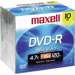 Maxell 16X Dvd-R Media 4.7Gb 120Mm Standard 638004