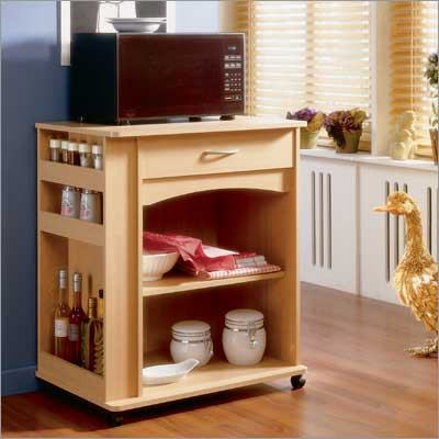 MFI Nexera  597 Natural Maple Delissio Microwave Cart