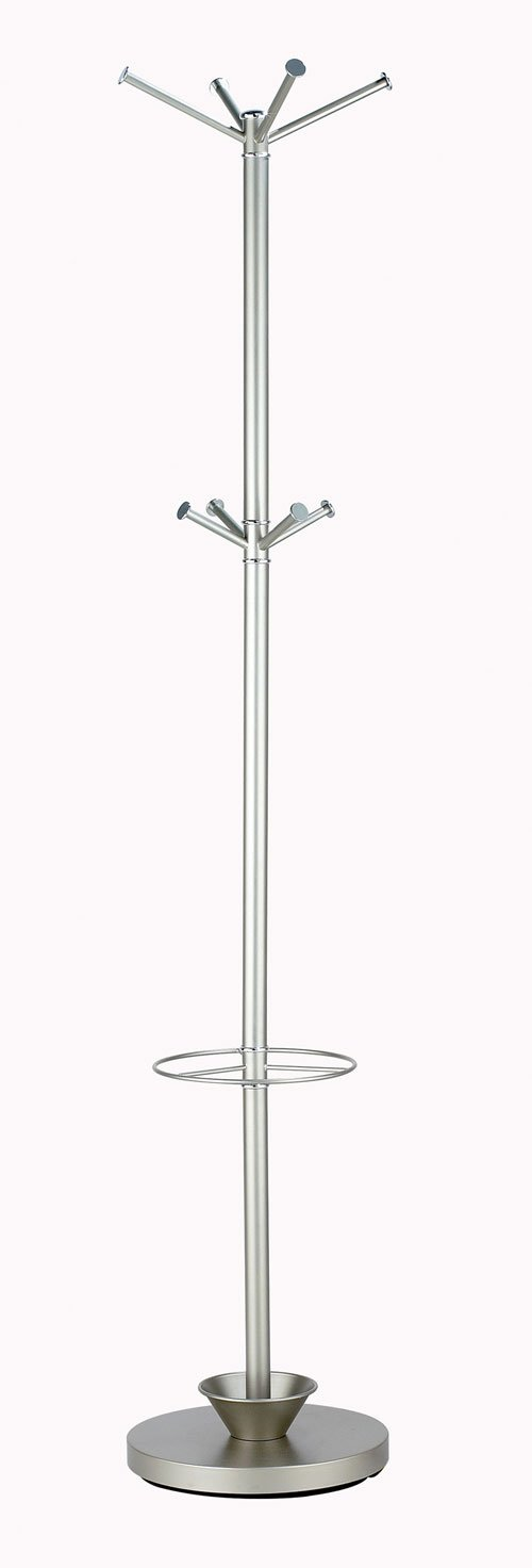 Adesso WK2048 Quatro Umbrella Stand/Coat Rack Champagne Steel 22