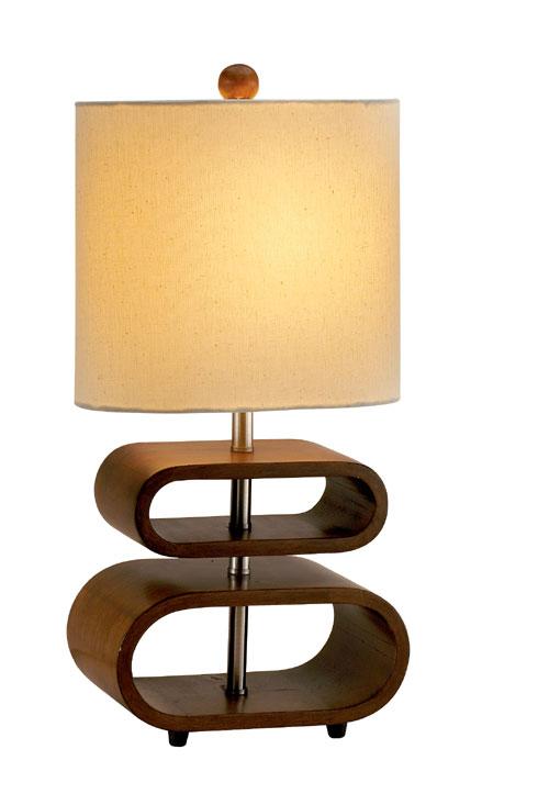 Adesso 3202 Rhythm Table Lamp Walnut 15