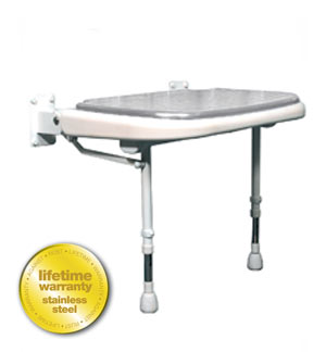 ARC Inc 04210P 4000 Series Shower SeatWide Padded - Gray - 23 Inch W