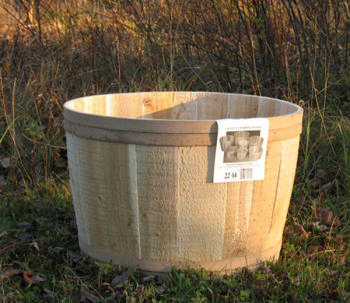 "All Maine Bucket T615 22"" x 14"" Cedar Tub"
