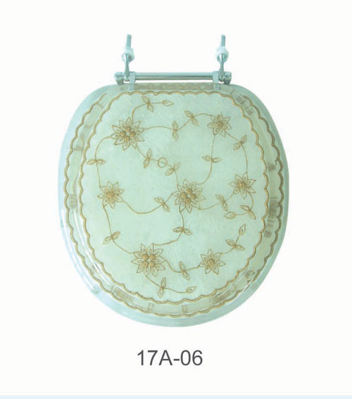 American Trading House 17A-06 Pearl White with Laced Flowers Poly Seat