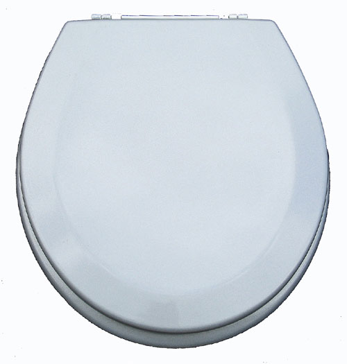American Trading House MDF-302 Premium Toilet Seat in Silver