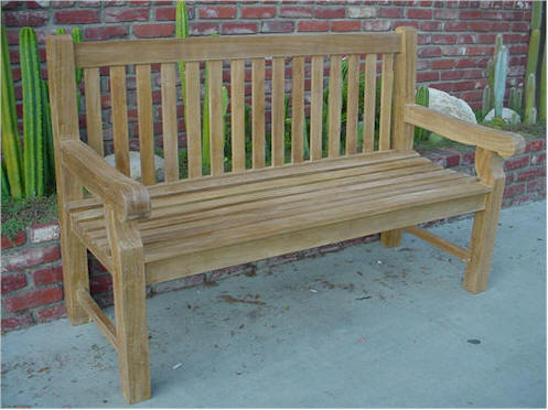 Anderson Teak BH-705S Devonshire 3-Seater Extra Thick Bench