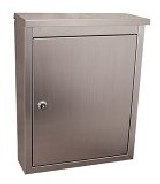 Architectural Mailboxes 2407PS Metropolis Wall Mounted Mailbox - Stainless Steel with Satin Finish