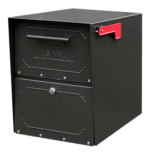Architectural Mailboxes 6200B-10 Oasis Jr. Curbside Locking Mailbox 15x11.5x18 Inch - Black