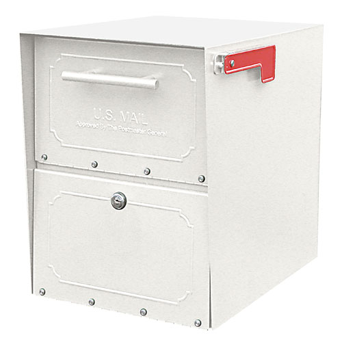 Architectural Mailboxes 6200W10 Oasis Jr. Curbside Locking Mailbox 15x11.5x18 Inch - White