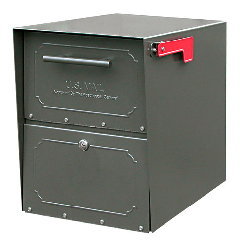 Architectural Mailboxes 6200Z-10 Oasis Jr. Curbside Locking Mailbox 15x11.5x18 Inch - Bronze