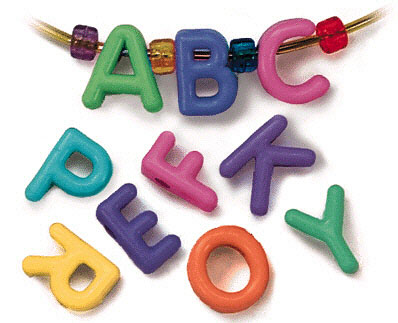 Roylco R-2184 3/4 Manuscript Letter Beads for School Furniture