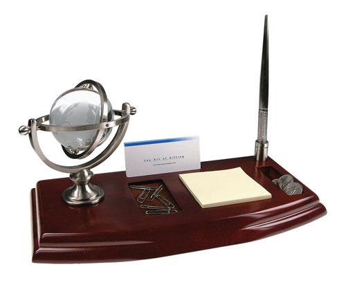 Bluestone Designs W006N Desk Organizer with Globe