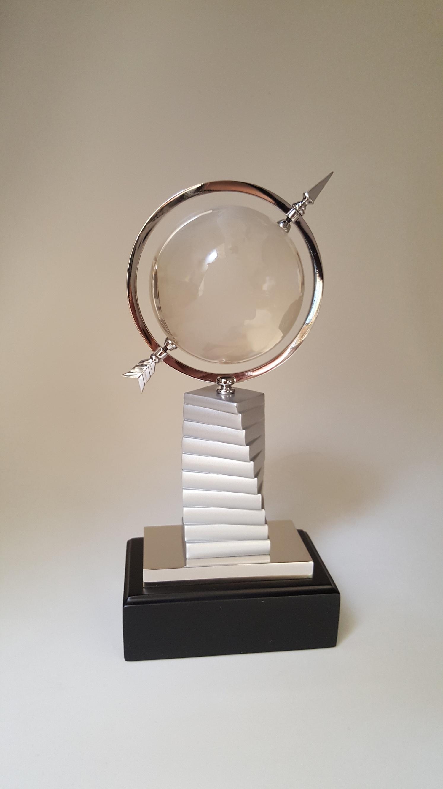 Bluestone Designs W369 Crystal Globe on Books