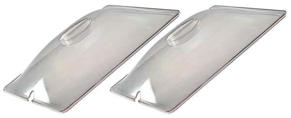 BroilKing CL-2 Two 1/2 Size Clear Plastic Lids