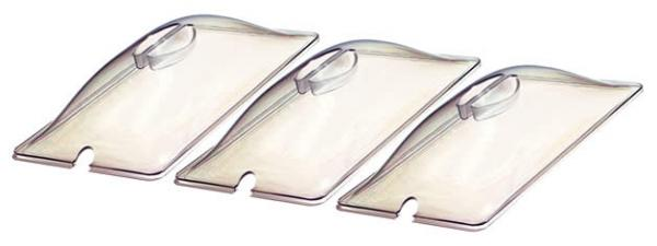 BroilKing CL-3 Three 1/3 Size Clear Plastic Lids