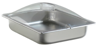 BroilKing SPL-2P 1/2 Size 4.3 qt. Chafing Pan & Plastic Lid