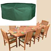 Bosmere C535 Oval / Rectangular Table & Chairs Cover - 8 Sea