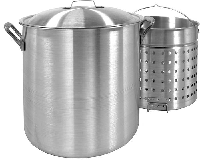 Bayou Classic 1000 100-Qt. Stockpot with Lid and Basket