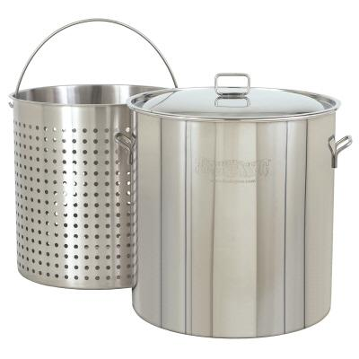 Bayou Classic 1122 122-Qt. Stockpot with Lid and Basket
