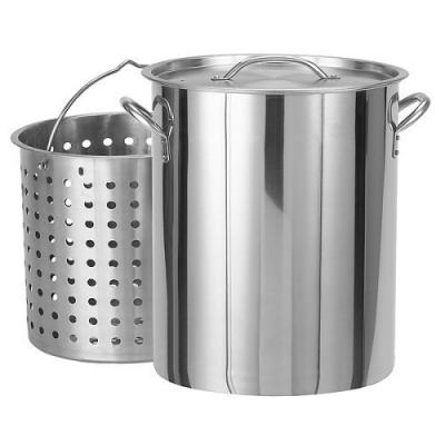 Bayou Classic 1182 82-Qt. Stockpot with Lid and Basket