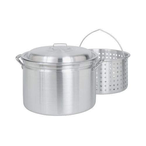 Bayou Classic 4024 24-Qt. Fryer- Steamer with Lid and Basket - Aluminum