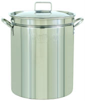 Bayou Classic 1044 44-Qt. Fryer- Steamer with Lid - Stainless Pot Only