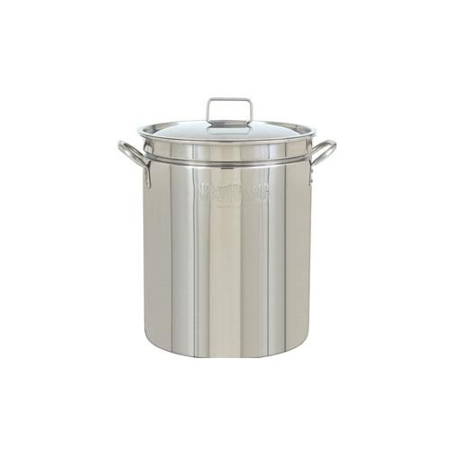 Bayou Classic 1082  82-Qt. Stockpot with Lid - Stainless Pot Only