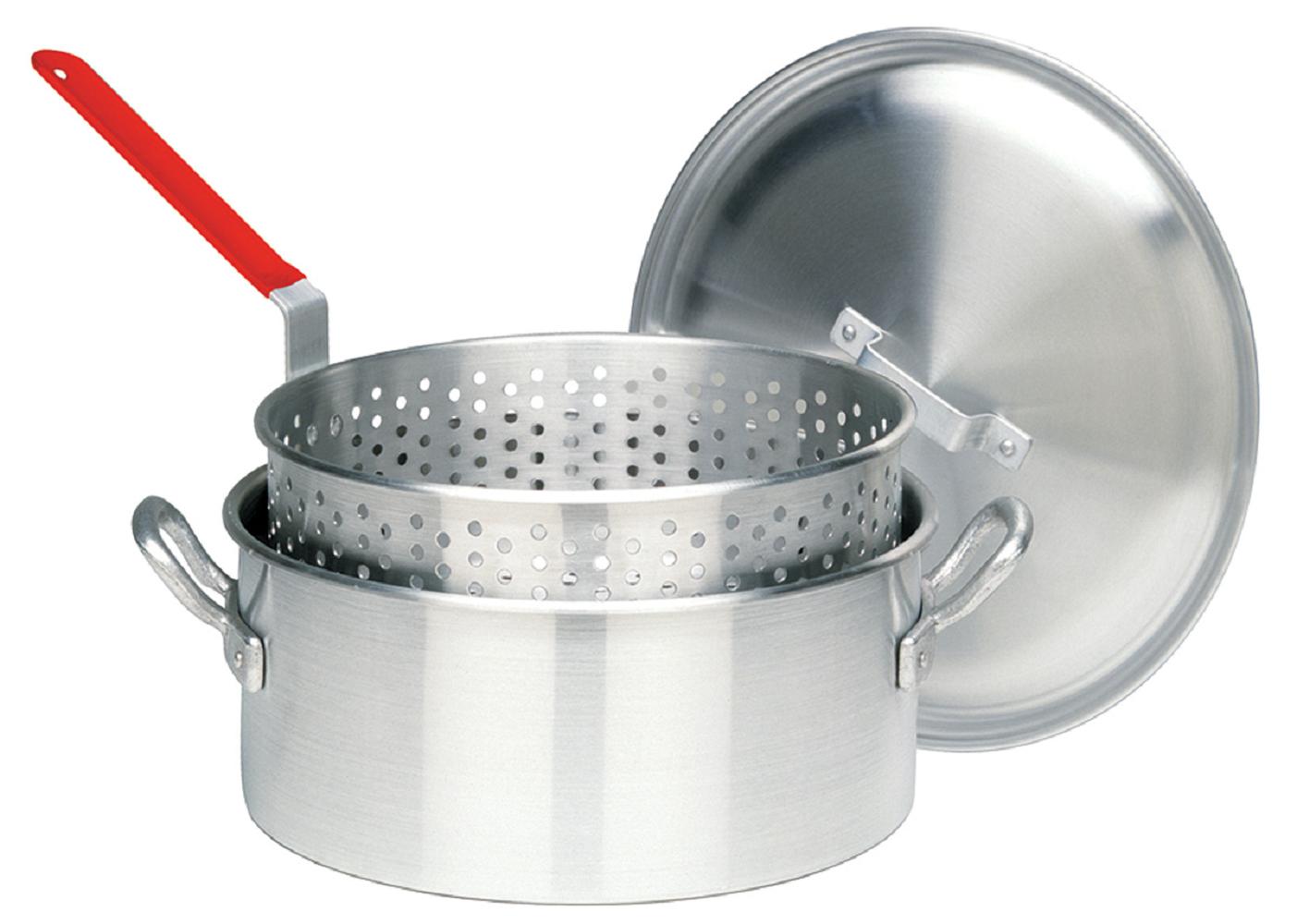 Bayou Classic 1350  Aluminum 14-Qt. Deep Fryer- Lid- Basket
