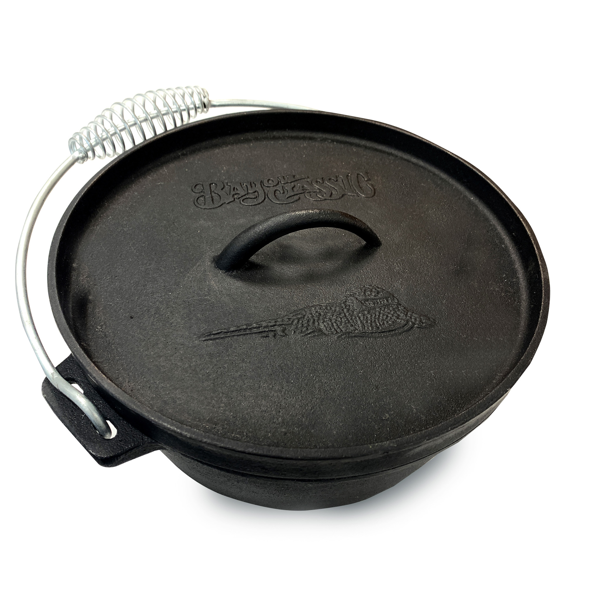 Bayou Classic 7402 2-Quart Cast Iron Dutch Oven