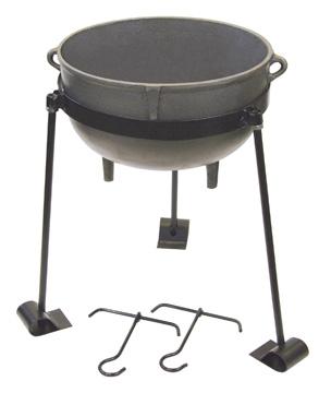 Bayou Classic CI-7415 15-Gal. Jambalaya Pot- TJ Hooks- Stand
