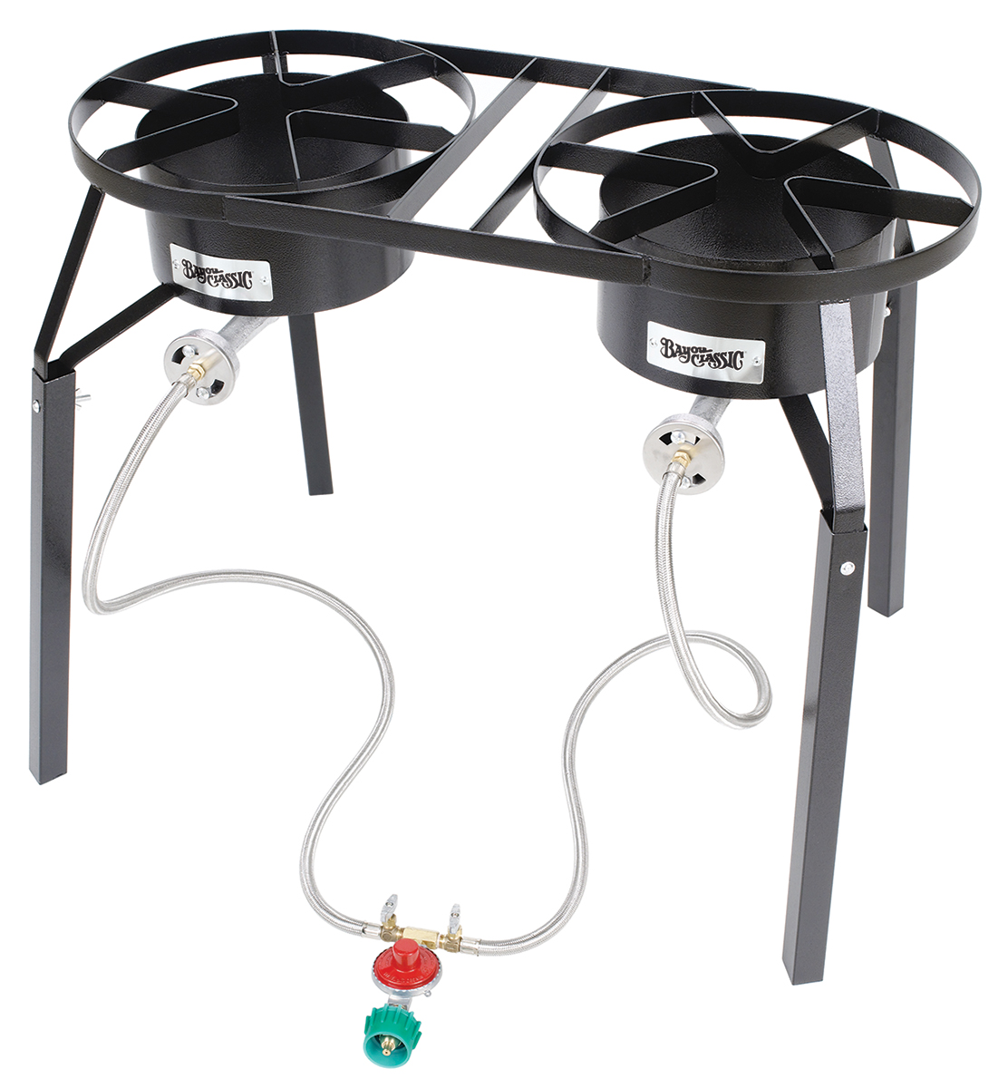 Bayou Classic DB250 Dual Burner Gas Cooker with Ext. Legs