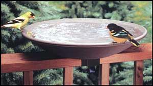 API 20 Inch  Non Heated Bird Bath  with  Ez Tilt Deck Mount