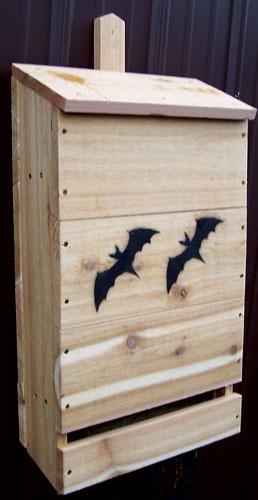 "Stovall SP10H 17"" W x 28"" H x 7-1/2"" D Wood Nursery Bat House"