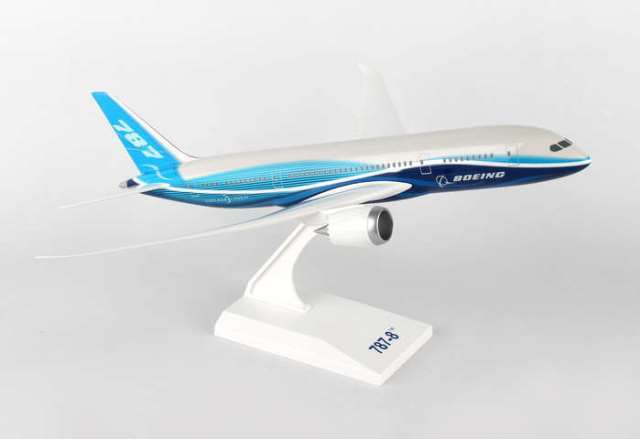 Daron Worldwide Trading SKR187 Skymarks Boeing House 787-8 1-200 with SPINNING Engines