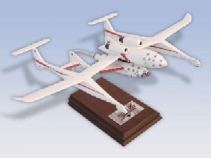 Daron Worldwide Trading E4340S3W Space Ship One With Mothership 1/40 AIRCRAFT