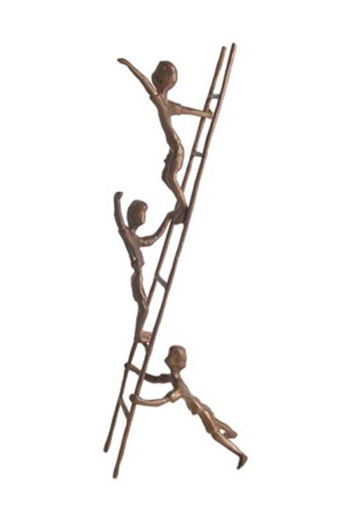 Danya B ZD6720 Children on a Ladder H:14 Inch