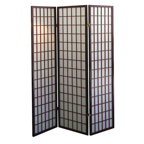 Dorel 00R566 3-Panel Room Divider - Cherry with Wood Veneer Material