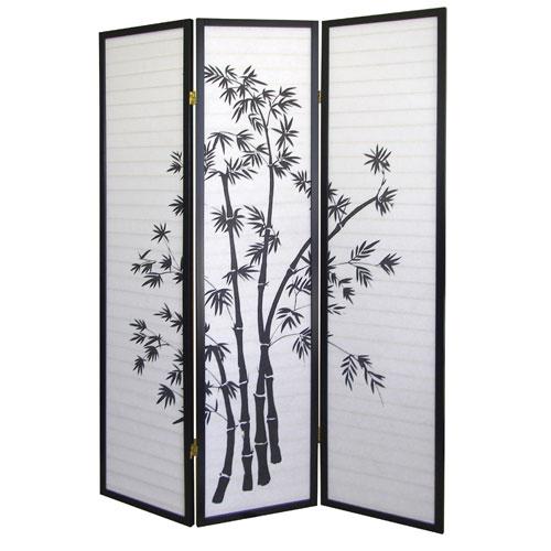 "Dorel 00R591 (18""W x 3 Panel) x 71""H Room Divider - Bamboo"