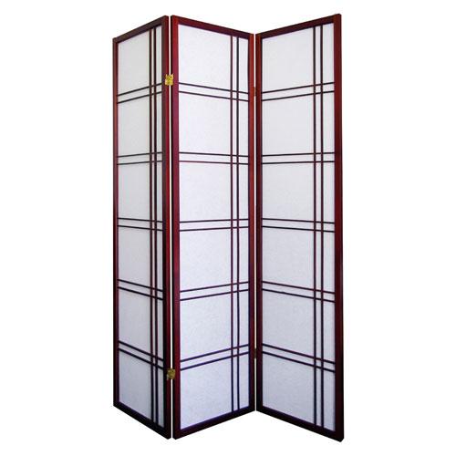 00R542CH Girard 3-Panel Room Divider - Cherry