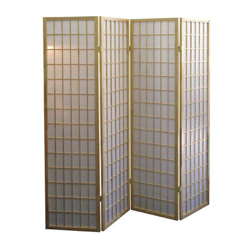 00R531-4 4-Panel Room Divider - Natural