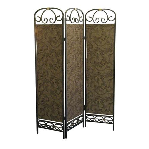 00R850 3-Panel Room Divider - Antique Gold