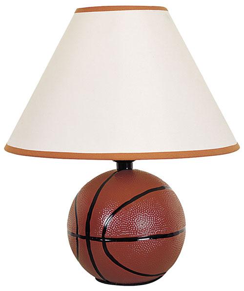 00ORE604BA Ceramic Basketball Table Lamp