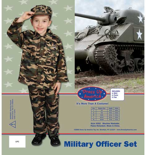 Dress Up America Deluxe Army Dress up Costume Set Medium 8-10 202-M