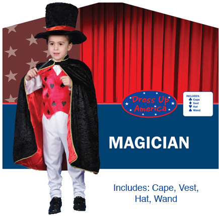Dress Up America Deluxe Magician Dress up Costume Set Large 12-14 232-L