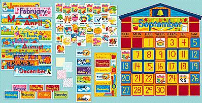 Scholastic Teaching Resources Sc-0439394058 Bb Set School House Calendar