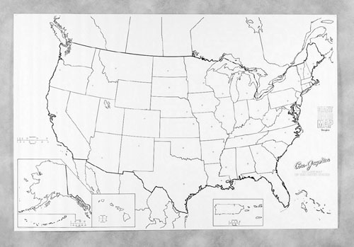 Pacon Corporation Pac78760 Giant U.S. Map