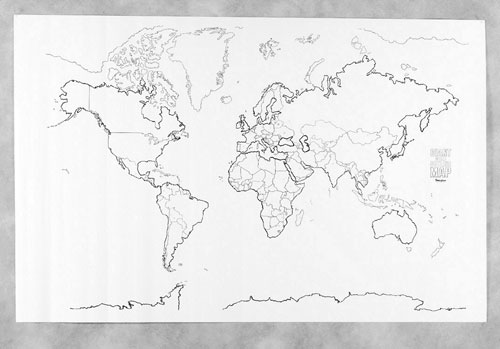 Pacon Corporation Pac78770 Giant World Map
