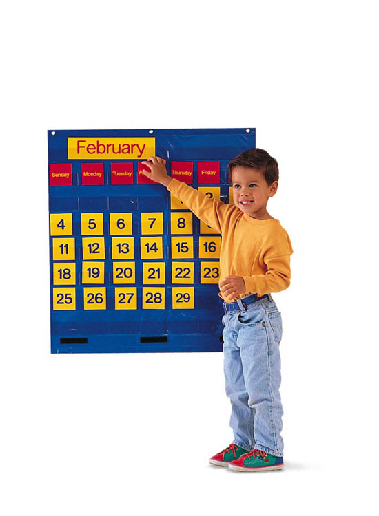 Learning Resources Ler2210 Bilingual Monthly Calendar Pocket C-Hart