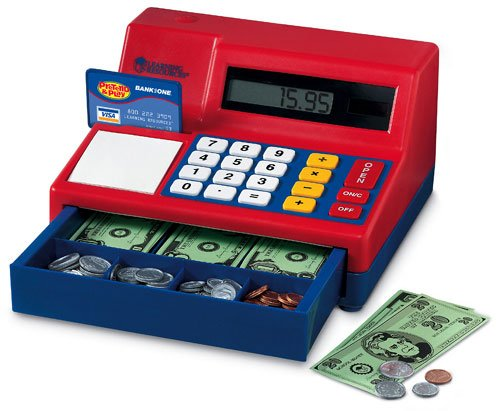 Learning Resources Ler2629 Calculator Cash Register-With U.S. Currency